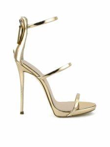 Giuseppe Zanotti Metallic Rose Gold Leather Sandal