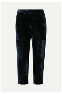Sies Marjan - Willa Cropped Silk And Cotton-blend Corduroy Straight-leg Pants - Navy