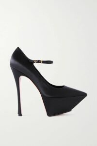 Victoria, Victoria Beckham - Striped Ribbed-knit Turtleneck Sweater - Red