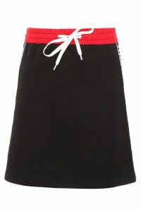 Miu Miu Mini Skirt With Logo Piping
