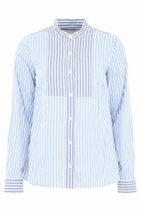 MICHAEL Michael Kors Striped Shirt With Plastron