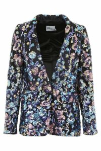 self-portrait Blazer With Multicolor Sequins