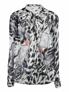 MSGM Animal Print Blouse