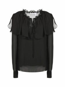 See by Chloé Sheer Ruffle Blouse