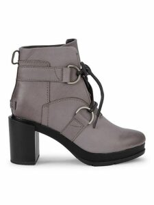 Margo Leather Lace-Up Platform Booties
