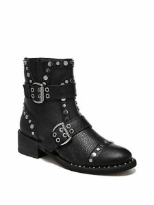 Drea Studded Leather Ankle Boots