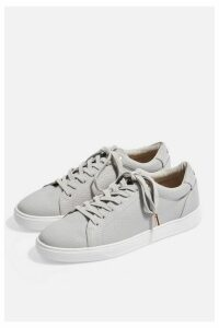 Womens Curly Lace Up Trainers - Grey, Grey