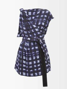 Three Graces London - Kilman Striped Linen Blend Shorts - Womens - Pink Stripe