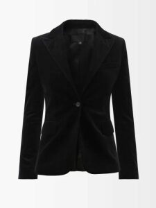 Three Graces London - Kilman Striped Linen Blend Shorts - Womens - Navy Stripe