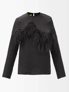 Athena Procopiou - Quiet Love Floral-print Silk Midi Dress - Womens - Black White