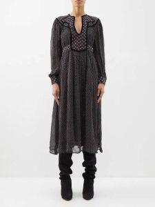 Gucci - Floral Print Silk Twill Shirt - Womens - Black Gold