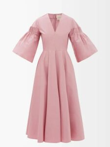 Gucci - Velvet Trimmed Single Breasted Wool Coat - Womens - Navy Multi