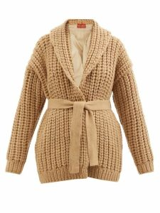 Balenciaga - Logo Intarsia Wool Blend Sweater - Womens - Navy Multi