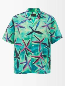Balenciaga - Oversized Acid Stained Cotton Sweater - Womens - Black Multi