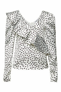 Self-Portrait Polka Dot Asymmetric Top