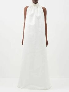 Chloé - Tennis Single Breasted Pinstriped Crepe Jacket - Womens - Navy Stripe