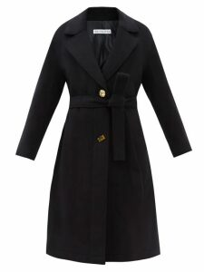 Chloé - Baroque Logo Wool-blend V-neck Sweater - Womens - Navy