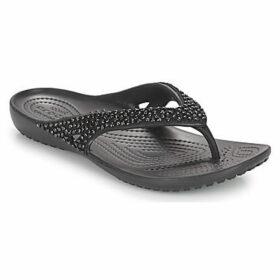 Crocs  KADEE II EMBELLISHED FLIP W  women's Flip flops / Sandals (Shoes) in Black