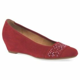 Gabor  Fodder Womens Wedge Heel Shoes  women's Court Shoes in Red