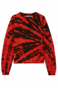 Proenza Schouler - Tie-dyed Cotton-terry Sweatshirt - Red