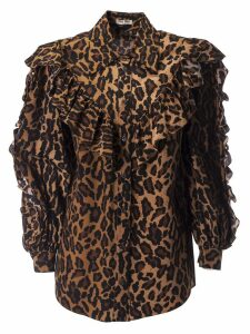 Miu Miu Leopard Print Blouse
