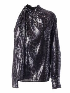 MSGM Sequin One-sleeve Blouse