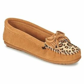 Minnetonka  LEOPARD KILTY MOC  women's Loafers / Casual Shoes in Brown