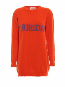 Alberta Ferretti Thursday Orange Long Crewneck