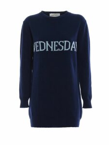 Alberta Ferretti Wednesday Blue Long Crewneck