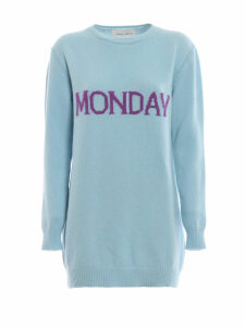 Alberta Ferretti Monday Light Blue Long Crewneck