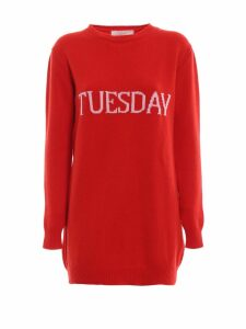 Alberta Ferretti Tuesday Red Long Crewneck
