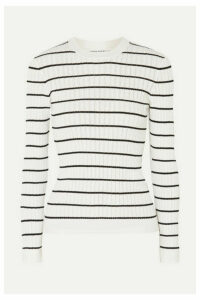 Sonia Rykiel - Striped Ribbed-knit Cotton-blend Top - White