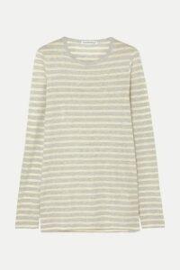 alexanderwang.t - Striped Slub Jersey Top - Chartreuse