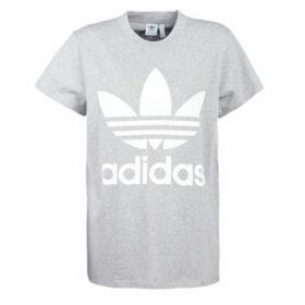 adidas  BIG TREFOIL TEE  women's T shirt in Grey