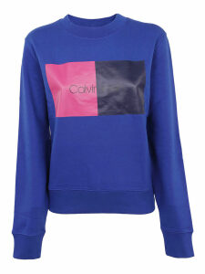 Calvin Klein Square Logo Print Sweatshirt