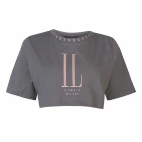 IL SARTO Roma Crop T Shirt - Grey