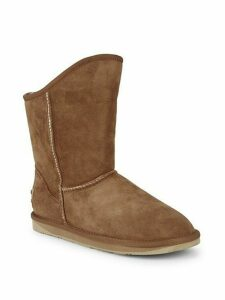 Shearling & Suede Short Boots