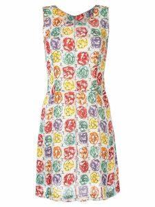Chanel Pre-Owned Camellia print A-line dress - Multicolour