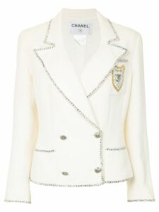 Chanel Pre-Owned 2005 double-breasted jacket - White