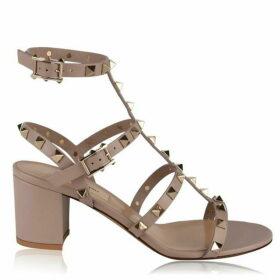 Valentino Rockstud Block Heeled Sandals
