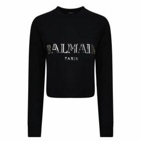 Balmain 3d Cropped Sweatshirt