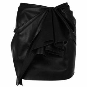 Alexandre Vauthier Leather Ruffle Mini Skirt