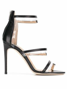 Sergio Rossi PVC trim sandals - Black