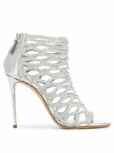 Casadei Gladiator peep toe sandals - Silver