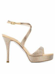 René Caovilla Krisabrita embellished sandals - NEUTRALS