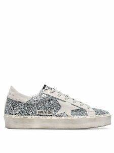 Golden Goose glitter Superstar sneakers - Silver