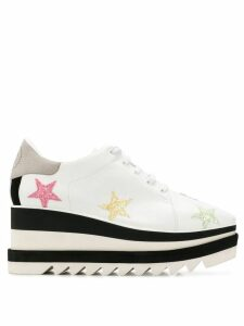 Stella McCartney Sneak-Elyse pastel star sneakers - 9035 Wht
