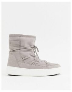 Moon Boot Pulse Faux Fur Line City Boots in Grey