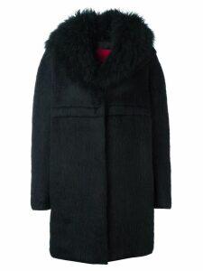 Moncler long sleeve cocoon coat - Black
