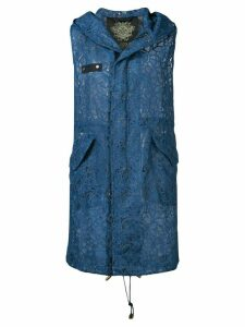 Mr & Mrs Italy hooded lace gilet - Blue